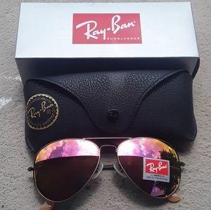 Brand New Pink RayBan Aviators 62mm Never Worn